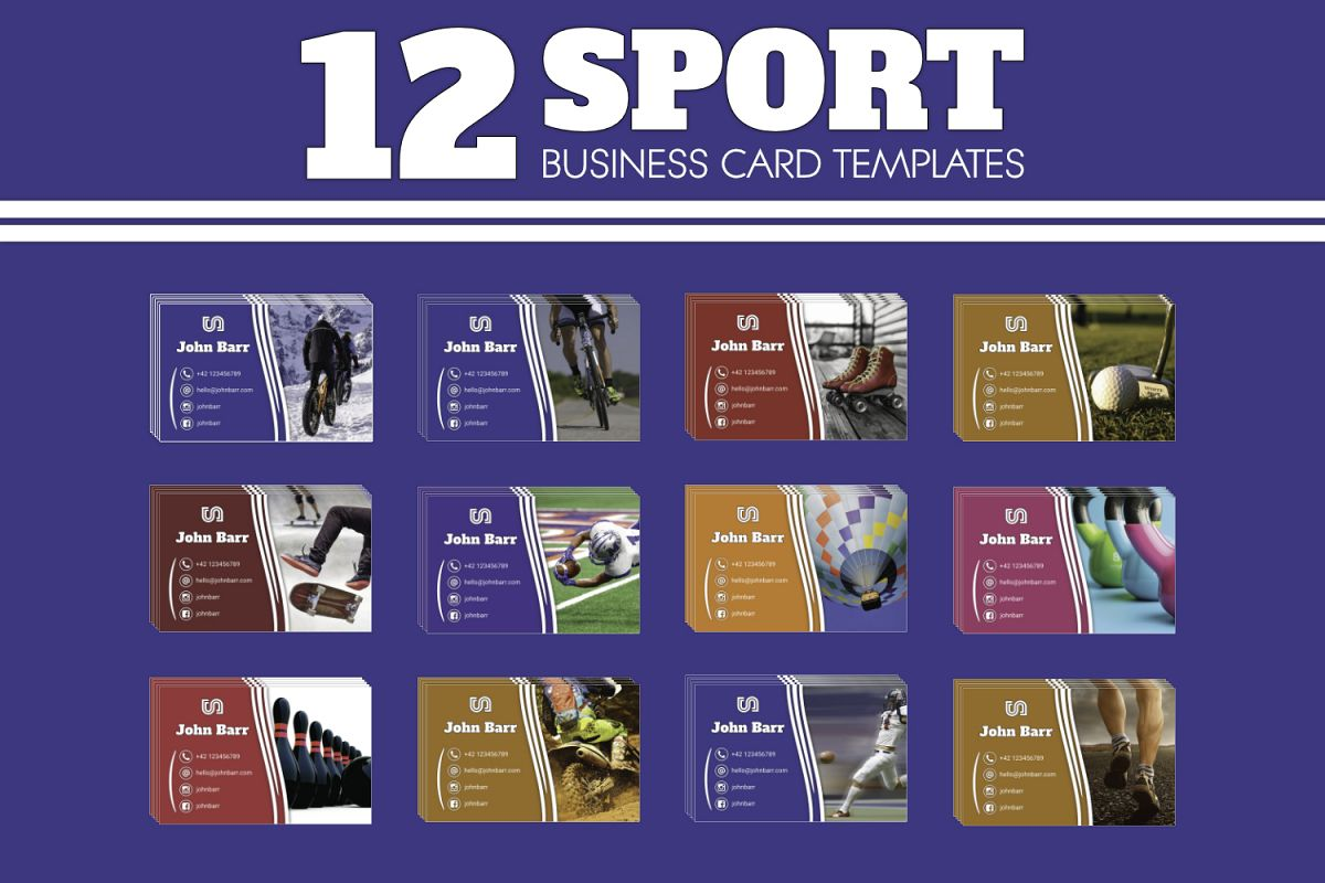 12 Sport Business Card Templates example image 1