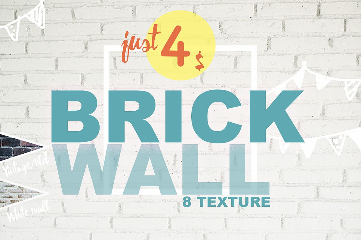 8 Brick Wall Texture Selected - edit example image 1