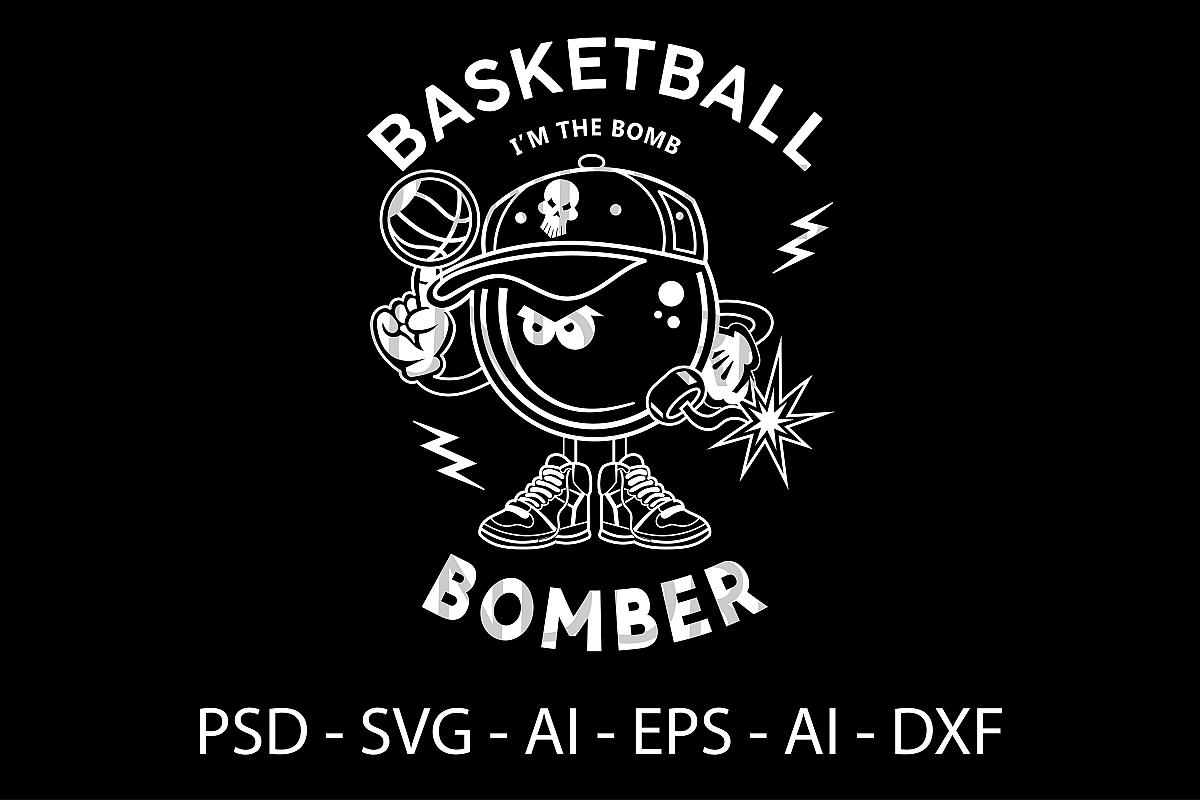 Basketball Player SVG file   t-shirt SVG file example image 1