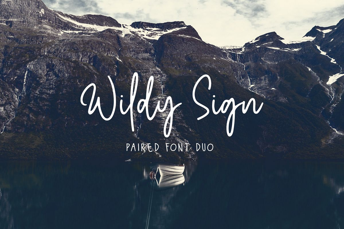 Wildy Sign - Paired Font Duo example image 1