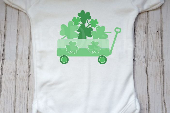 St Patrick's Day Little Wagon - Shamrocks example image 1