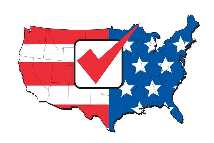 American election map of USA example image 1