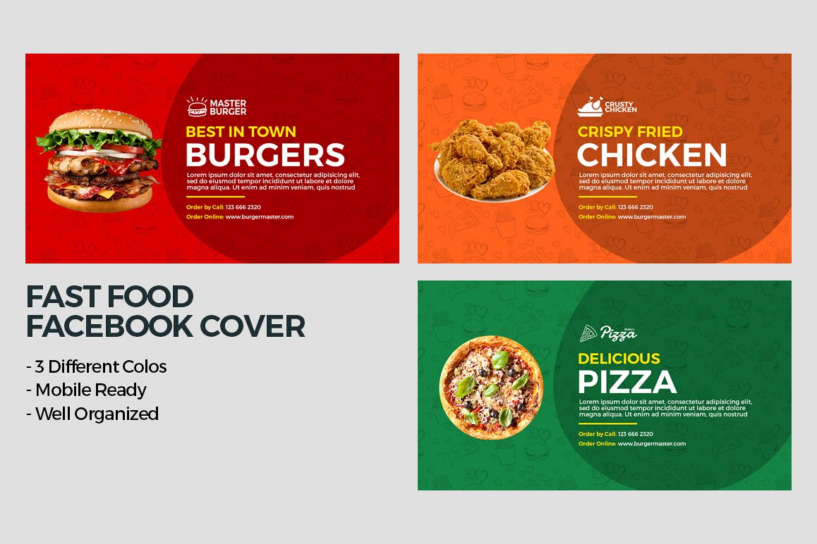 Fast Food Facebook Cover example image 1