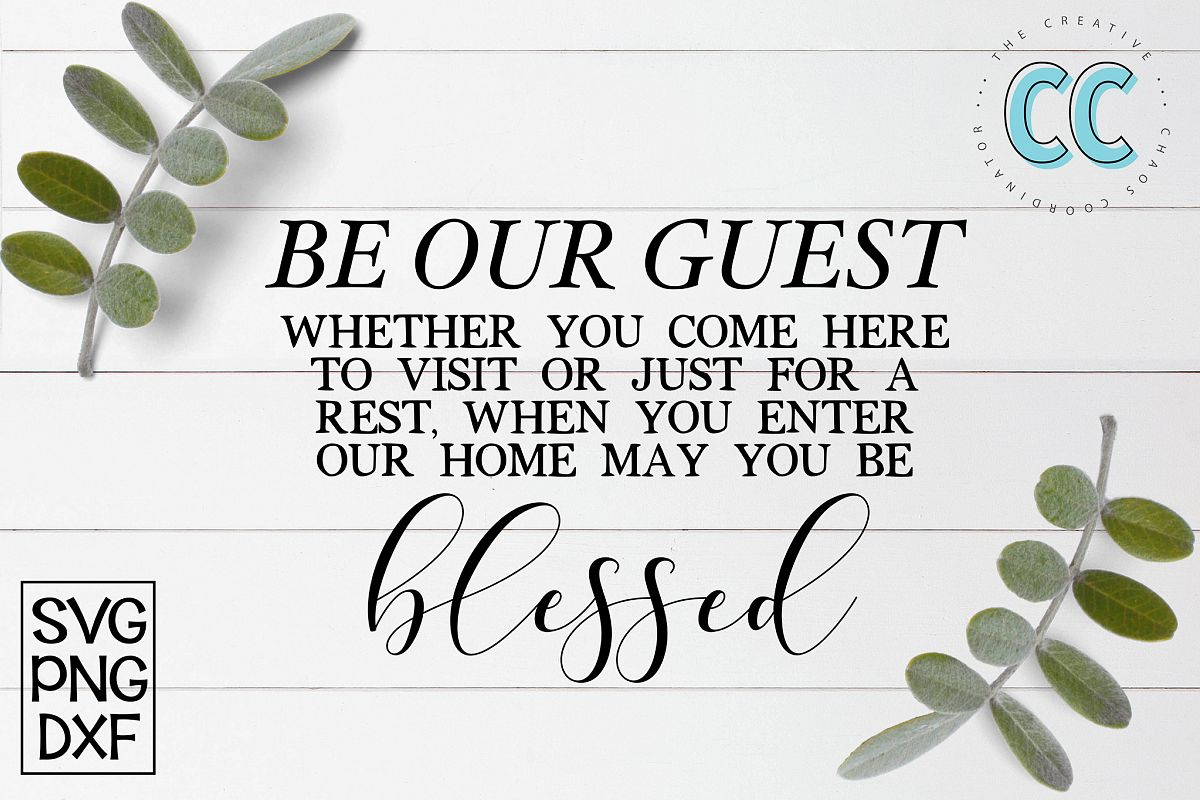 Be Our Guest and Be Blessed example image 1