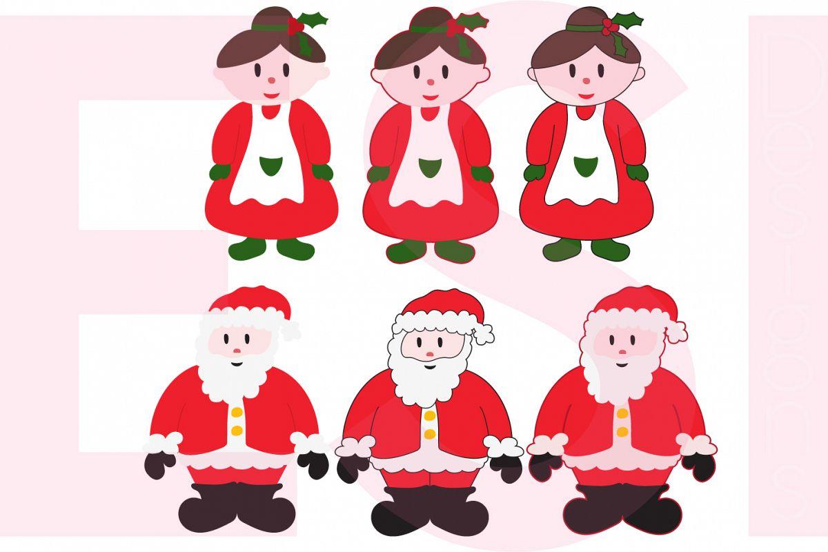 Santa and Mrs Claus Design Set example image 1