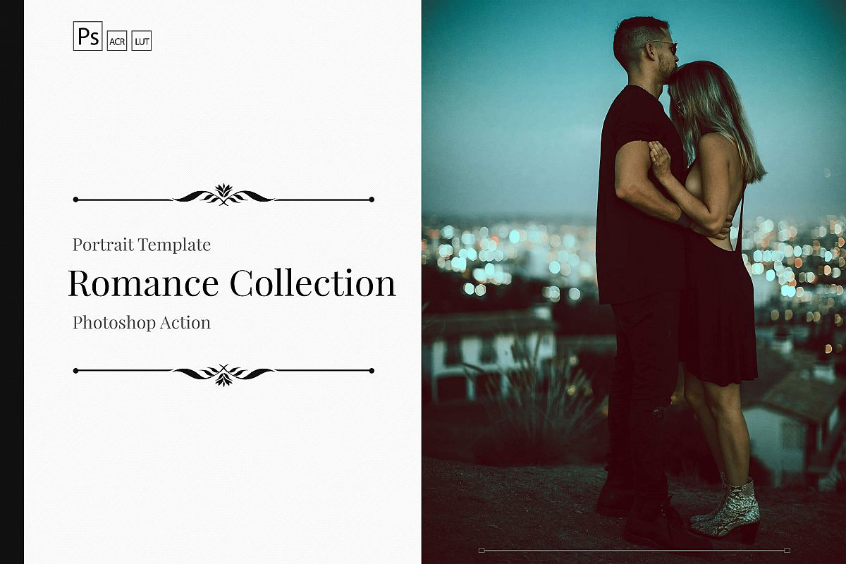 Romance Cinematic Color Grading Photoshop action Filter example image 1