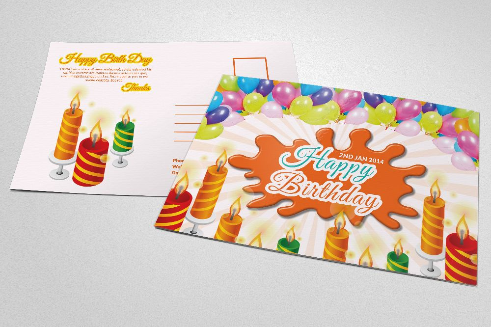 Kids Birthday Post Cards example image 1