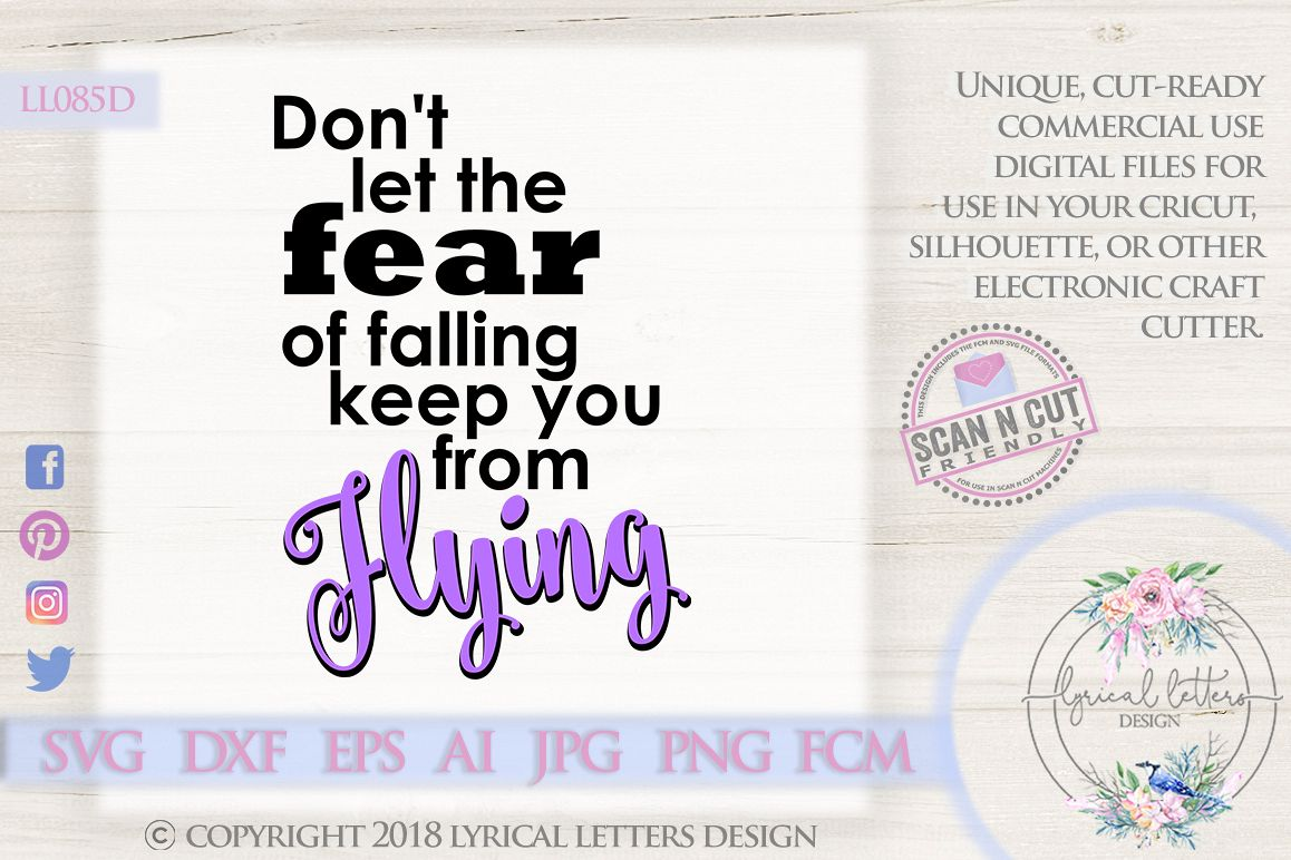 The Fear of Falling Cheerleader SVG DXF Cut File LL085D example image 1