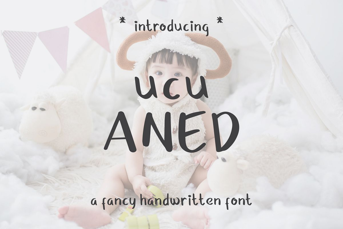 Ucu Aned a Fancy Handwriting Font example image 1