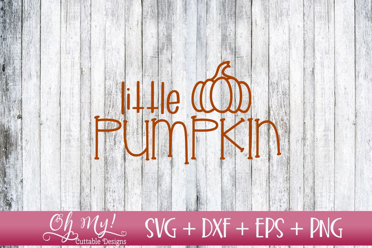 Little Pumpkin - SVG DXF EPS PNG example image 1