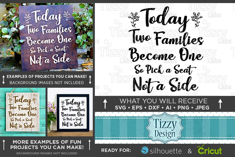 Today Two Families Become One SVG File - Wedding SVG - 5501 example image 1