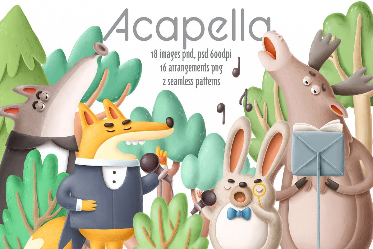 Collection of singing forest animals example image 1