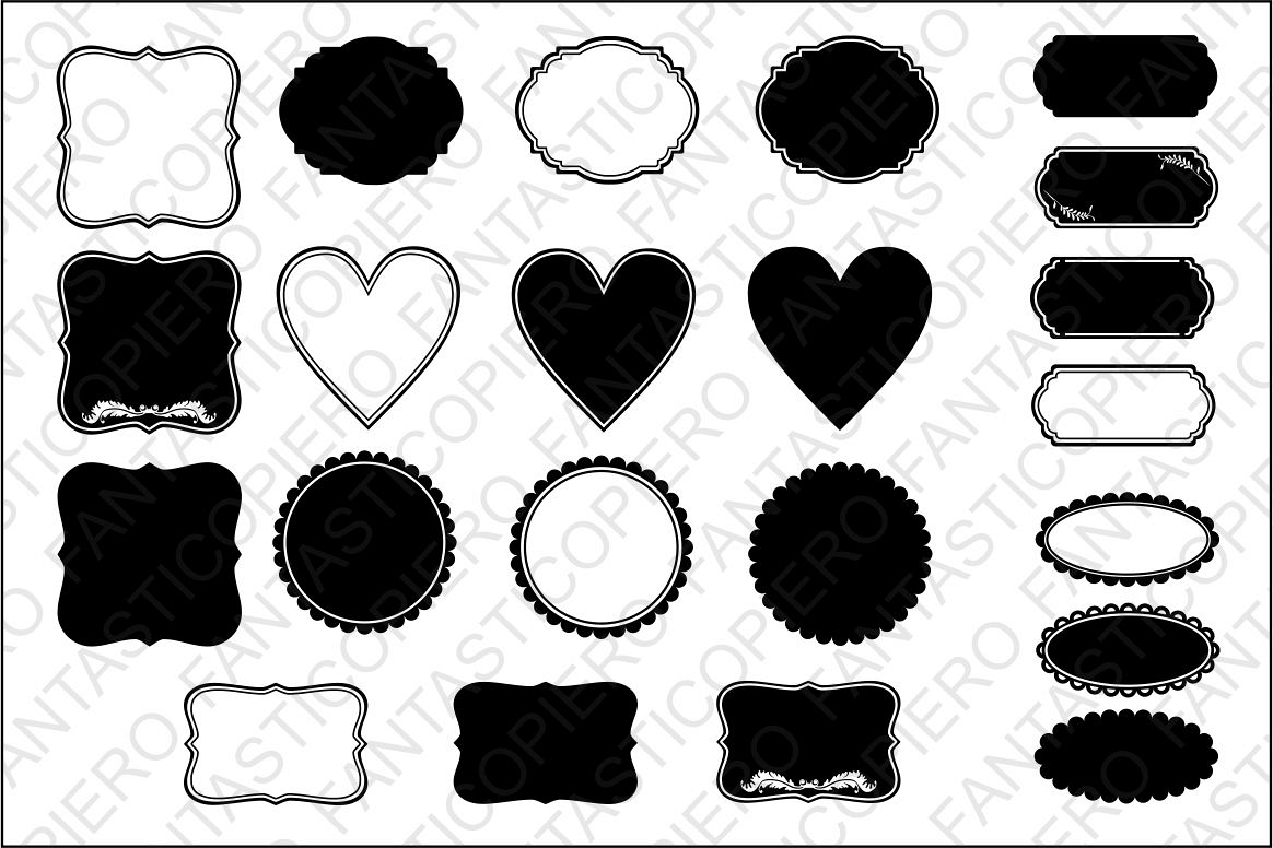 Labels SVG files for Silhouette Cameo and Cricut. example image 1