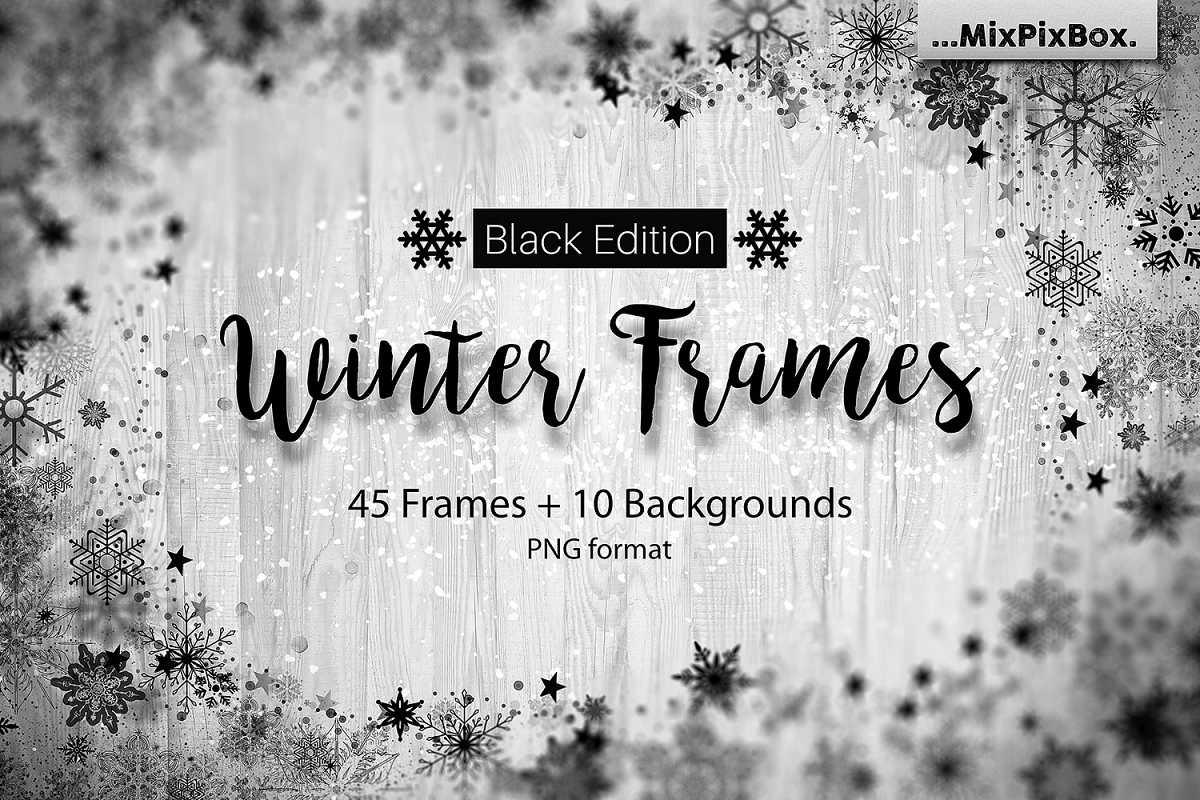 Winter Frames - Black Edition example image 1