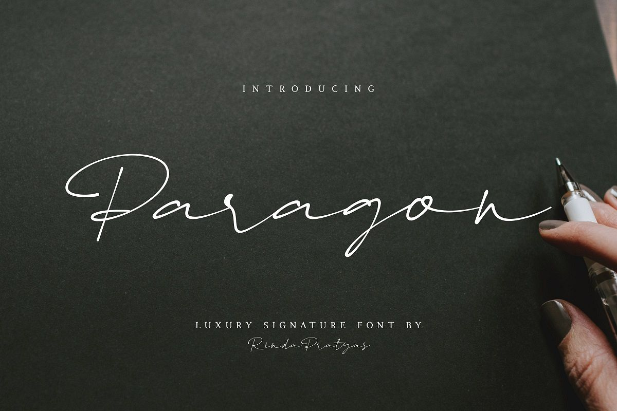 Paragon Luxury Signature Font example image 1