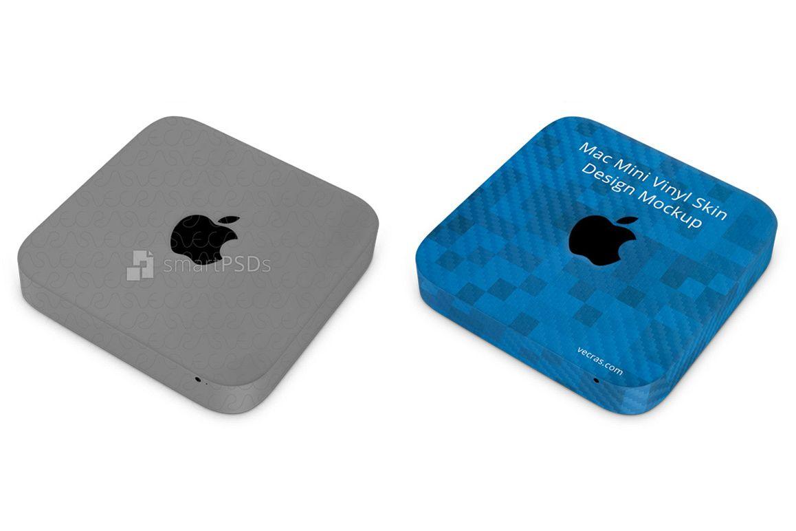 Apple Mac Mini Vinyl Skin Design Mockup example image 1