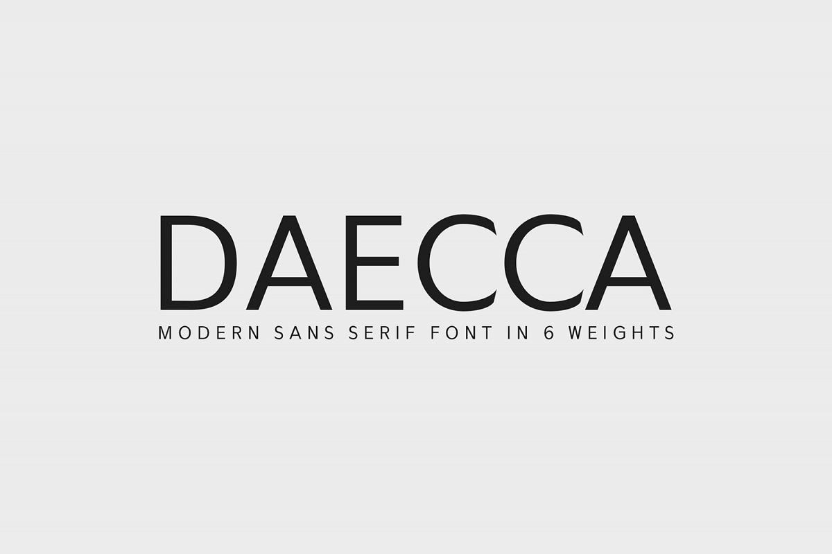 Daecca Sans Serif Font Family example image 1