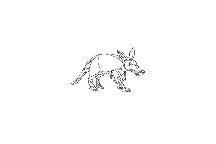 Aardvark Black and White Mono Line example image 1