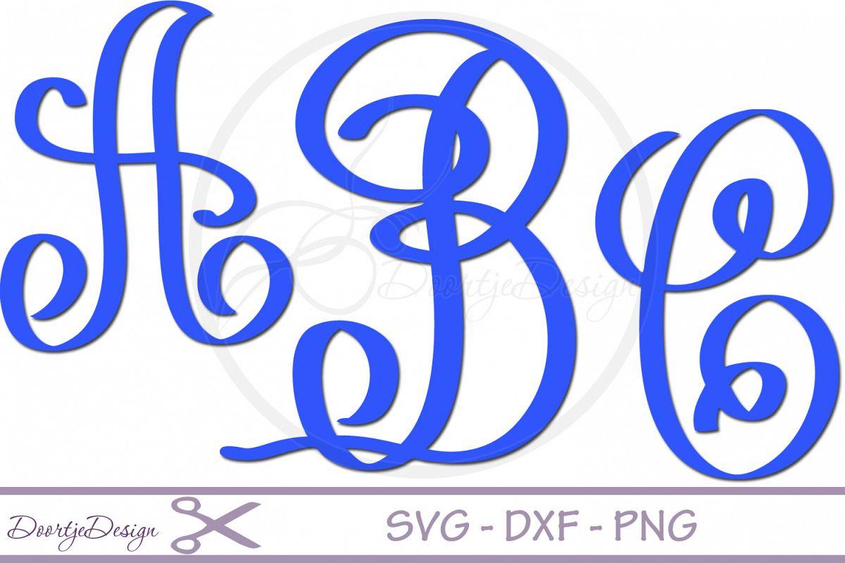 Script Alphabet SVG example image 1
