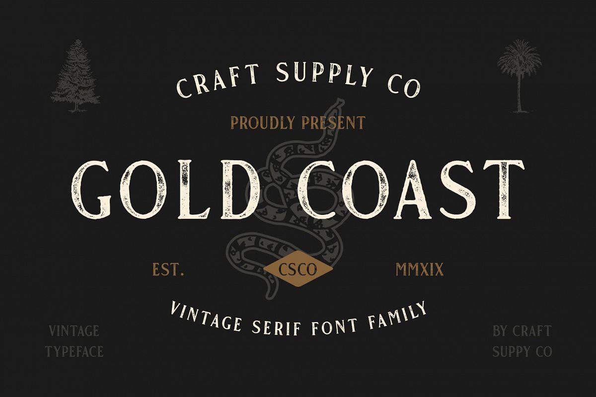 Gold Coast - Vintage Serif Bonus Logo example image 1
