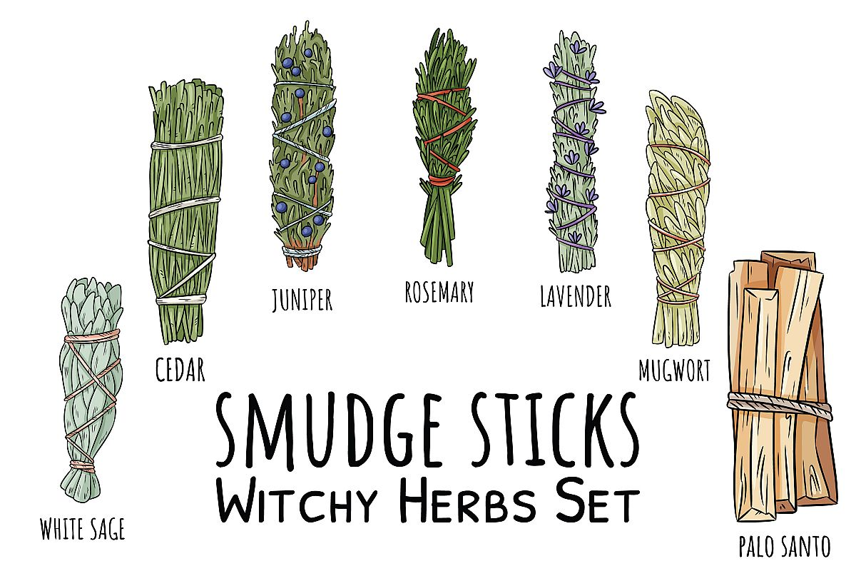 Smudge Sticks Witchy Herbs Set example image 1
