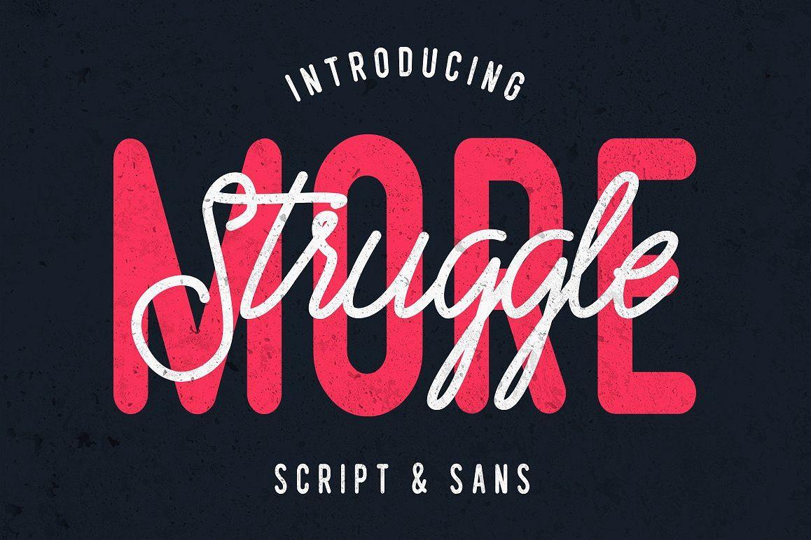 Struggle More - Script & Sans Font / Font Logo example image 1