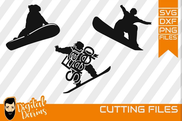 3x Snowboard Bundle svg, Snow svg file, winter sport svg example image 1