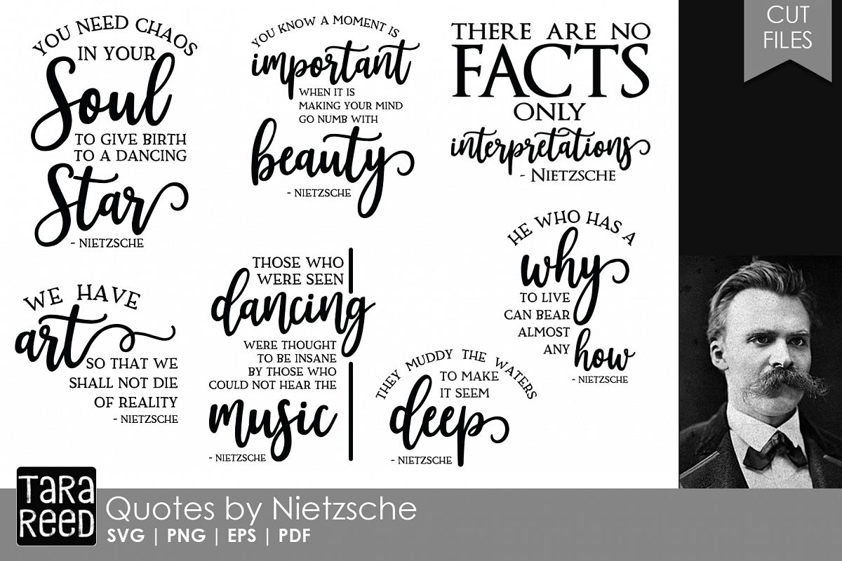 Friedrich Nietzsche Quotes  Quote SVG and Cut Files