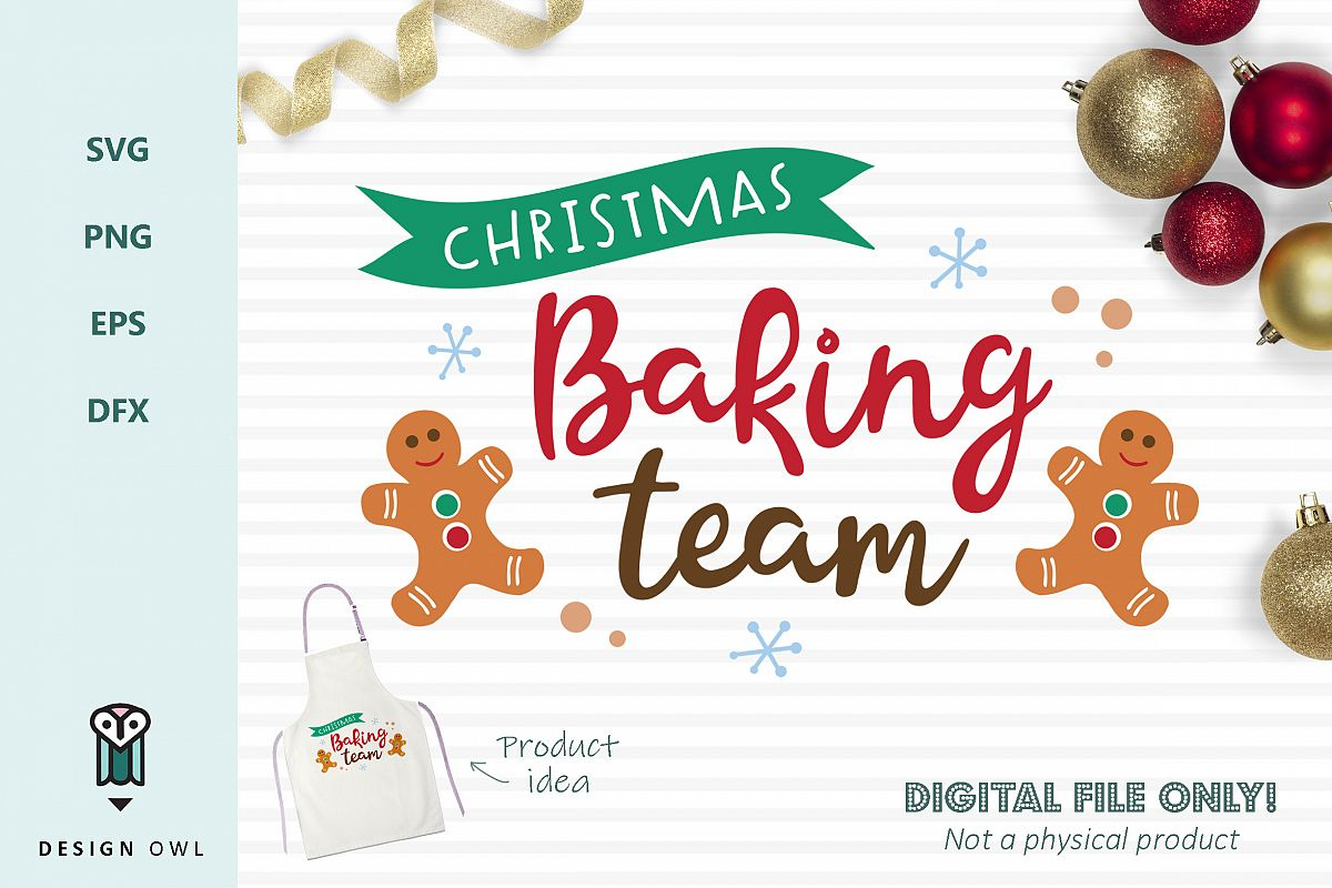 Christmas baking team SVG file example image 1