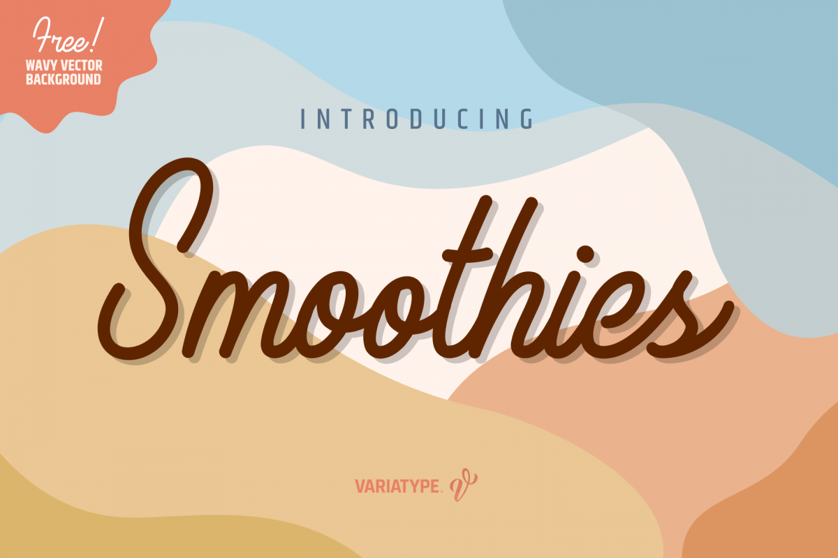 Smoothies - Cute and Simple Monoline example image 1