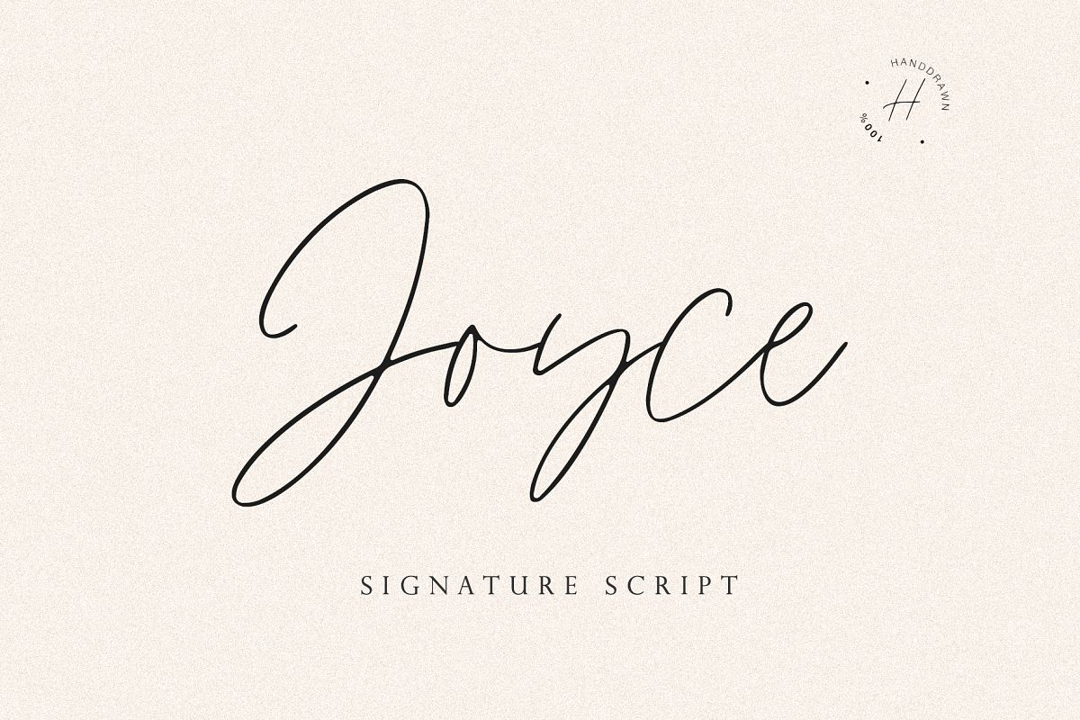 JOYCE SCRIPT example image 1