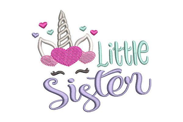 Little  Sister Unicorn Face example image 1