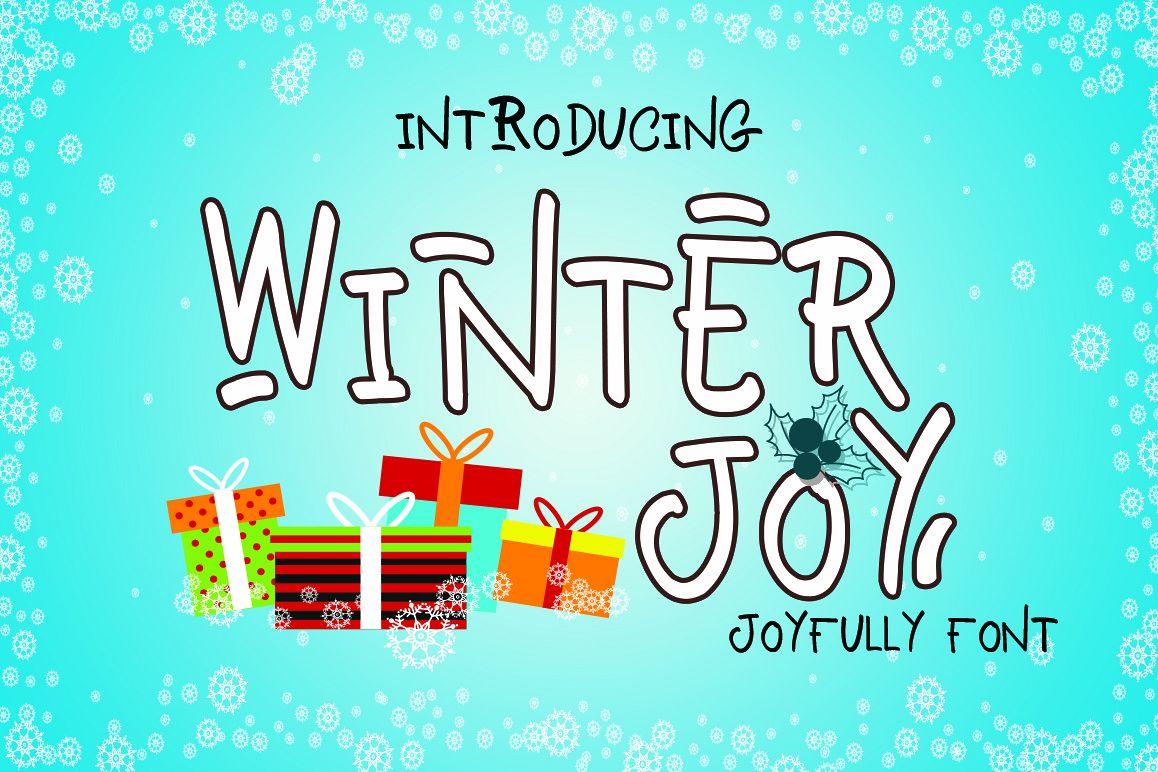 Winter Joy - Joyfully Font example image 1