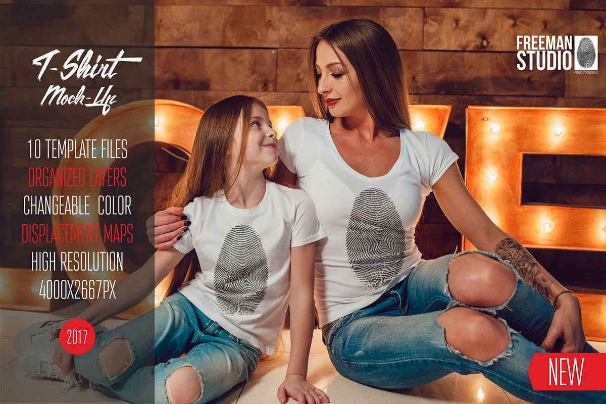 Family T-Shirt Mock-Up Vol.1 2017 example image 1
