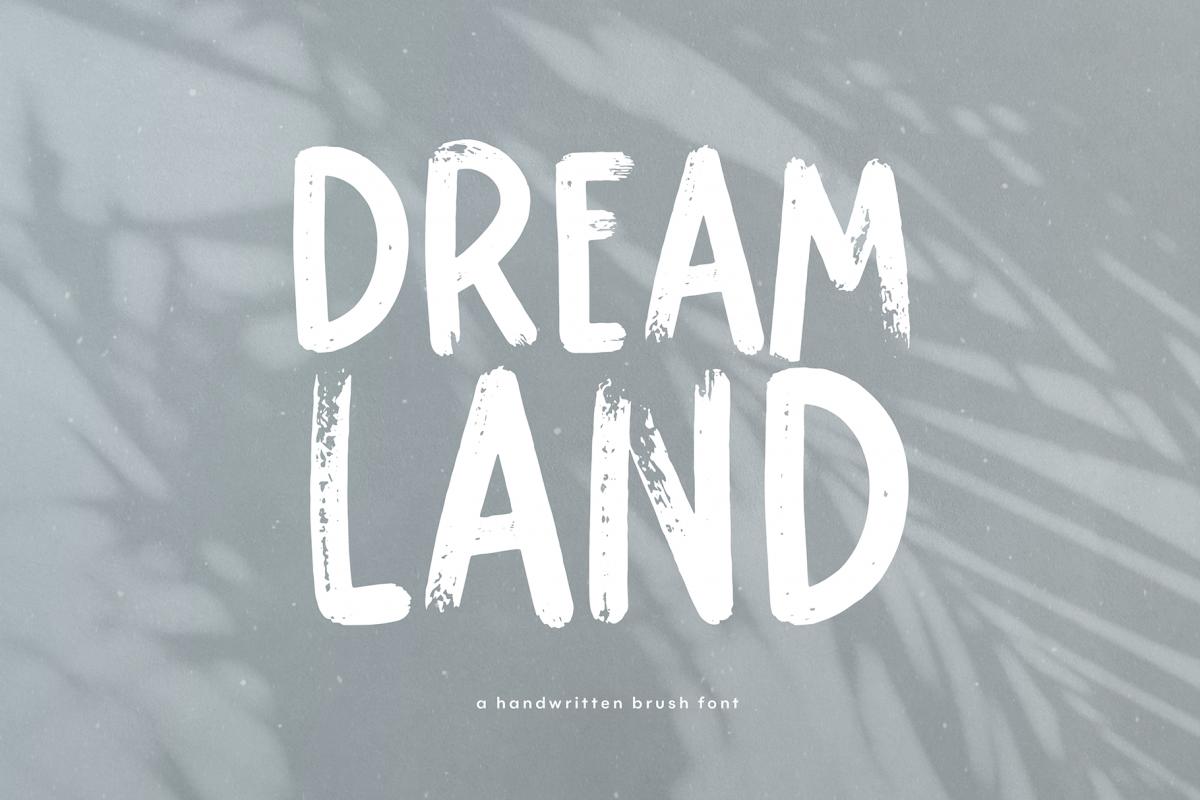 Dreamland - Handwritten Brush Font example image 1