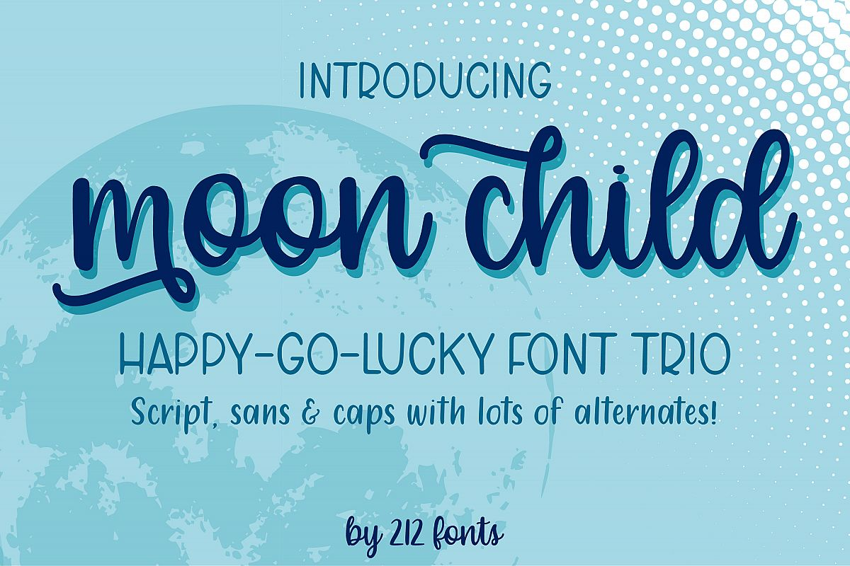 Moon Child Font Trio example image 1