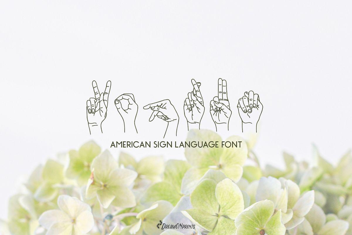 Koprun - American Sign Language Font example image 1