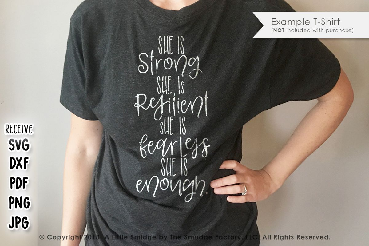 She Is Strong, She Is Resilient SVG example image 1