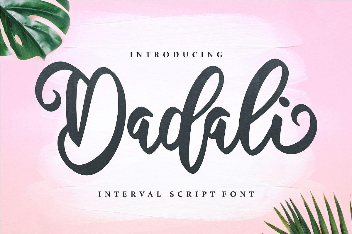 Dadali - Interval Script Font example image 1
