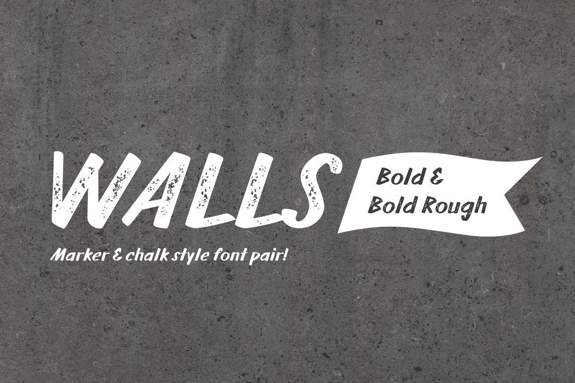 Walls Bold & Walls Rough Bold example image 1