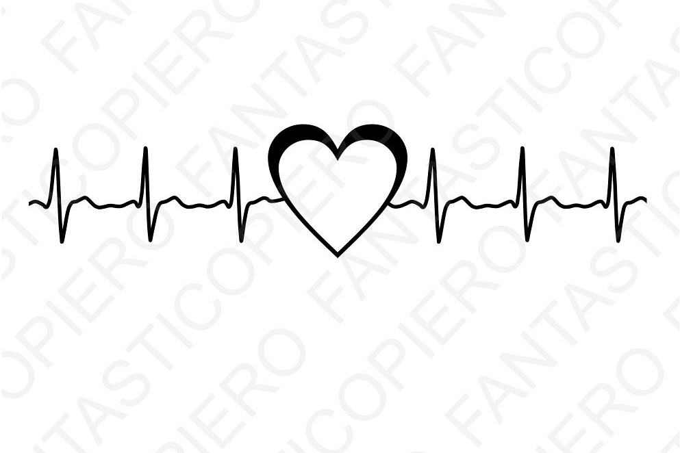 Cardio heart SVG files for Silhouette Cameo and Cricut. example image 1