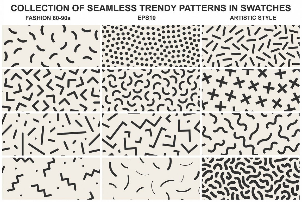 Memphis seamless patterns vol 2 example image 1