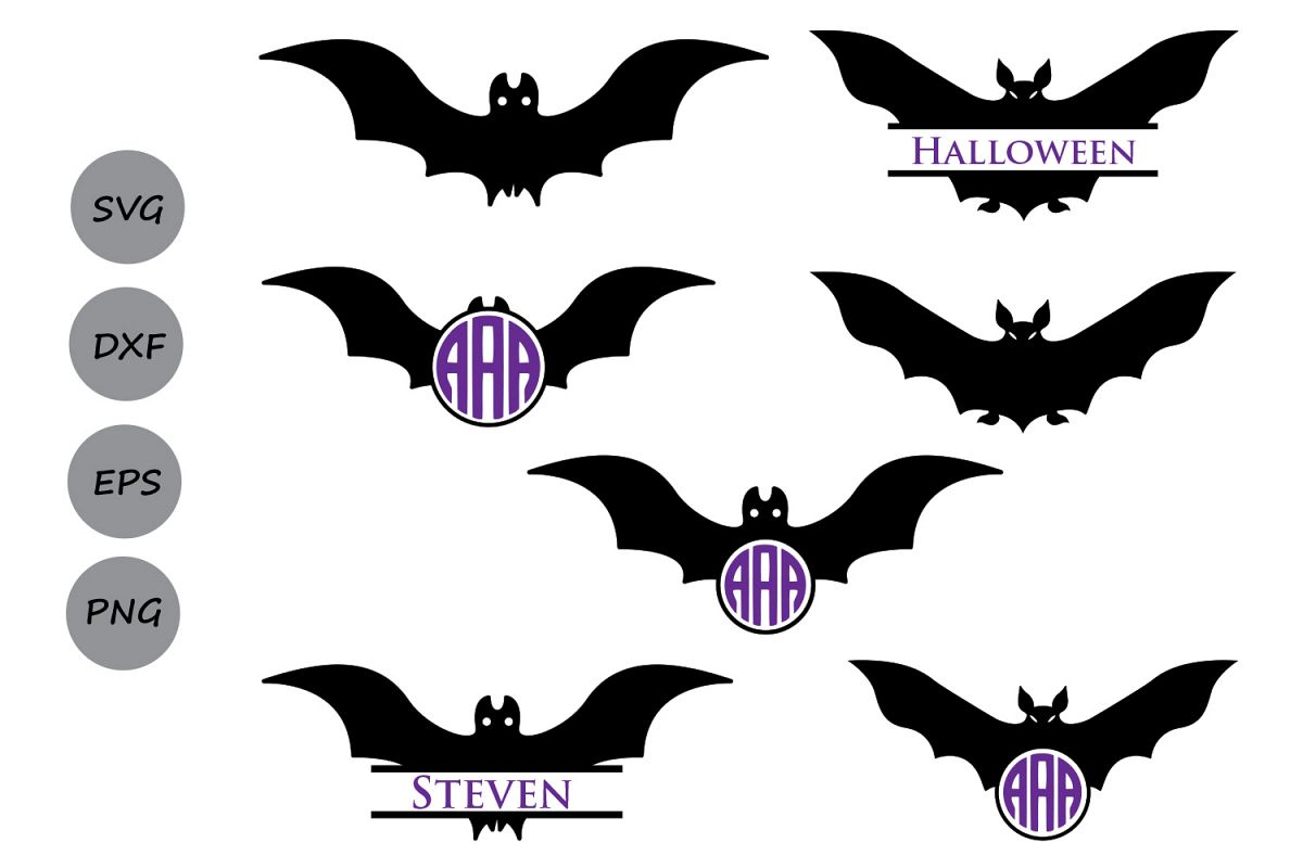 halloween bats svg cut files halloween svg halloween bats monogram svg halloween monogram