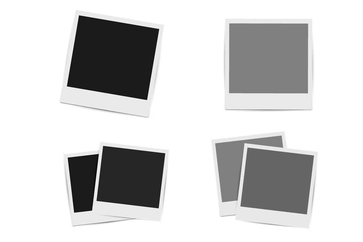 Collection of retro photo frames. example image 1
