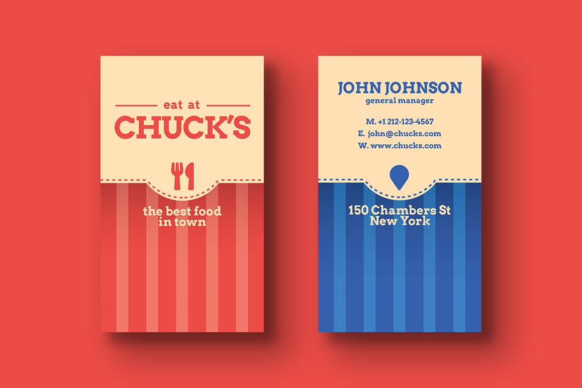 Local Diner Business Card Templates
