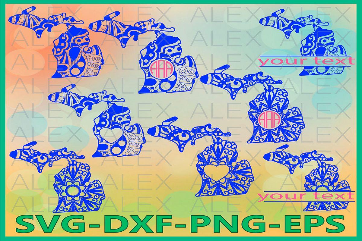 Michigan State SVG, Michigan Mandala SVG, Michigan Svg example image 1