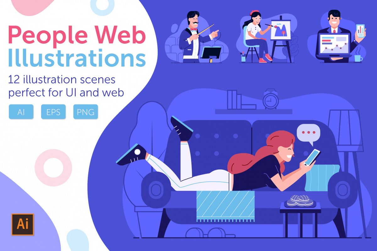 Web Marketing People Illustrations example image 1