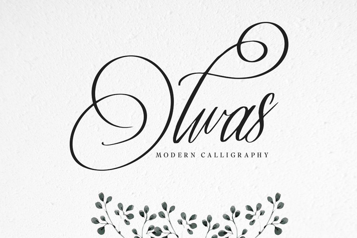 Olwas Script (Extra bonus 200+ ornaments) example image 1