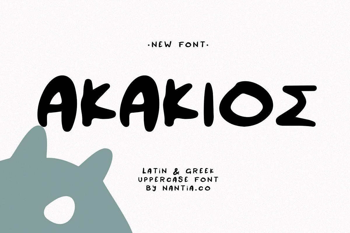 AKAKIOS UPPERCASE FONT example image 1