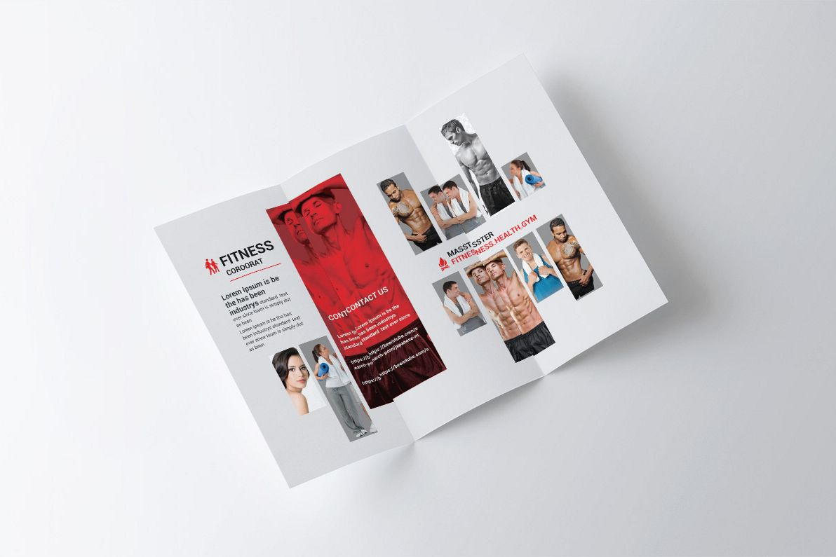 fitness tri folder brochure